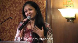 Singer Anitha at Raja vin Sangeetha Thirunaal Press Meet