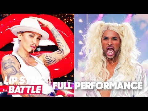 """Nicole Ari Parker's """"PIMP"""" vs. Boris Kodjoe's """"No Excuses""""   Lip Sync Battle"""