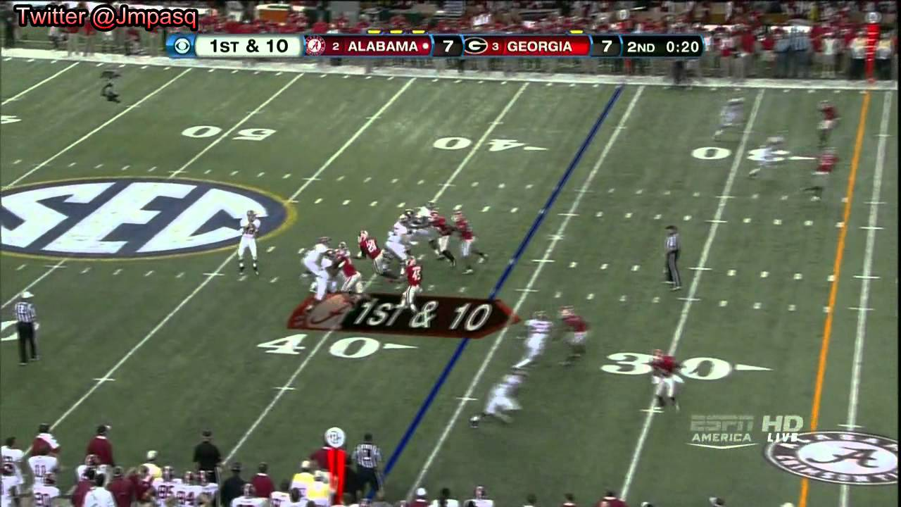 Barrett Jones vs Georgia (2012)