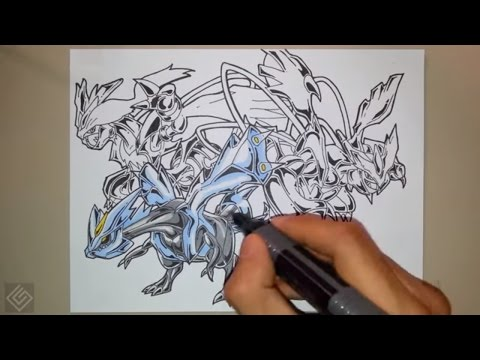 Kyurem (Pokemon Black and White) - Speed Drawing | Labyrinth Draw