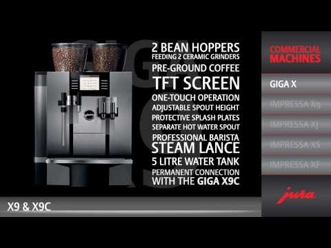 JURA GIGA X9 Professional - The flexible barista speciality coffee professional