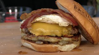 Breakfast All Day Burger Recipe! BurgerFi Copycat by Ballistic BBQ