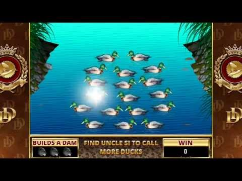 DUCK DYNASTY Video Slot Game with a BEAVER DAM BONUS