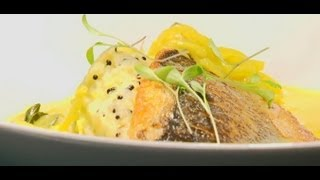 Michelin starred chef Atul Kochhar creates a recipe of pan fried sea bass with curry spice