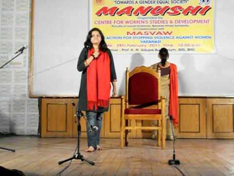 "Inter Faculty Drama Competition Manushi on ""Towards a Gender Equal Society"" organized by MASVAW"