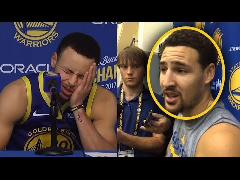 "Klay Thompson Says ""If I Dont Get Paid MAX Im Going To Play With LEBRON"" And Curry GETS UPSET"