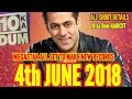 Salman Khans Dus Ka Dum On Air 4th June 2018  New Television Records Will Be Made
