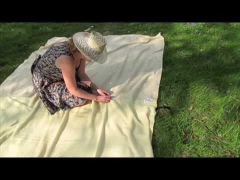 Mongolian felt making from Alpaca wool at Wimbles