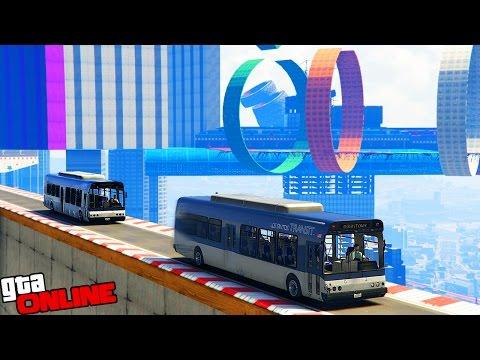 СУПЕР ПАРКУР НА АВТОБУСАХ! (GTA 5 ONLINE ГОНКИ) (видео)
