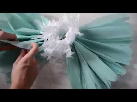 DIY Giant Crepe Paper Flower Tutorial