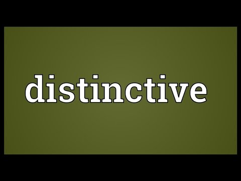 Distinctive Meaning