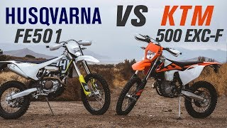 7. 2018 Husqvarna FE 501 vs KTM 500 EXC-F | Ride Review