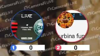 flamengo vs Coritiba ao vivo with CameraFi Live.