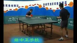Kong Linghui and Ma Wenge замедленная съемка  настольный теннис