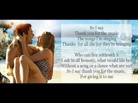 Tekst piosenki Amanda Seyfried - Thank You For The Music po polsku