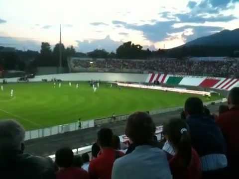 Il gol di Kurtic visto dai Distinti del Franco Ossola