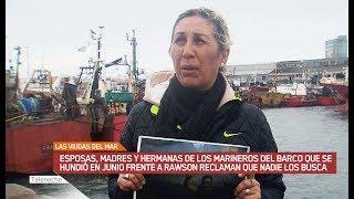 """El pesquero """"Repunte"""" se hundió hace un mes y dejó 7 desaparecidos. Sus familiares están desesperados y piden que los busquen."""