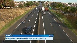 Número de mortes no trânsito cresce 19% em Marília e vai na contramão do Estado