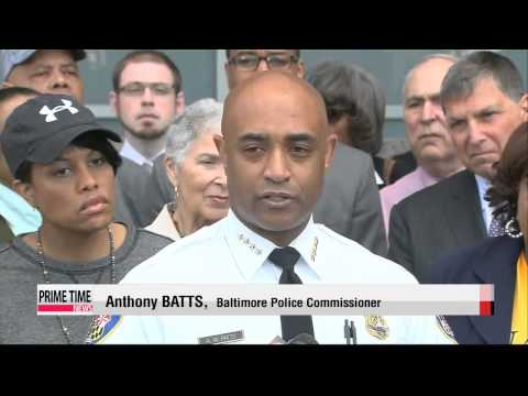 Tensions ease in Baltimore after widespread riots   볼티모어 흑인 폭동으로 비상사태 선포