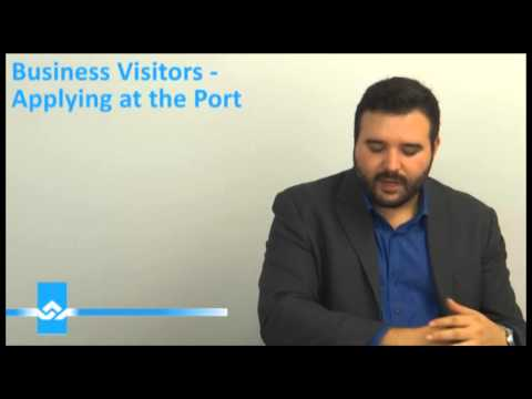 Business Visitors Applying at the Port Video