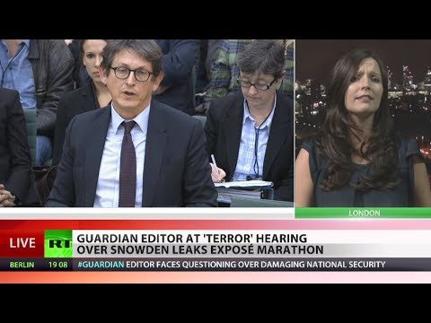 editor - Guardian editor Alan Rusbridger strongly defended his newspaper's publication of the Snowden leaks in response to a hostile grilling by a UK parliamentary co...
