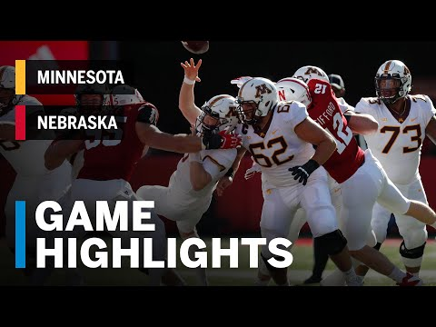 Highlights: Minnesota Golden Gophers Vs. Nebraska Cornhuskers | Big Ten Football