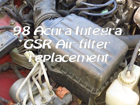 1994-2001 Acura Integra GSR engine air filter replacement