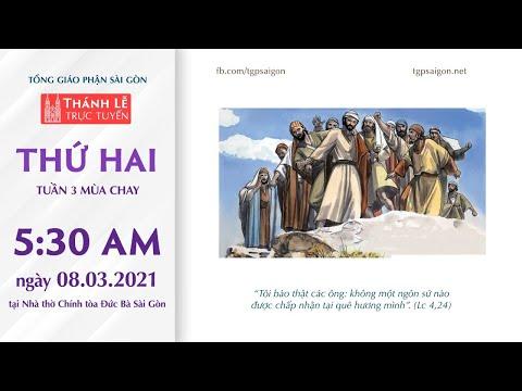 🔴Thánh Lễ trực tuyến 8-3-2021: THỨ HAI TUẦN 3 MÙA CHAY | NHÀ THỜ ĐỨC BÀ SÀI GÒN