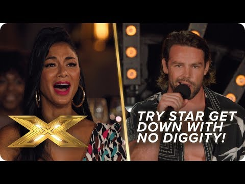 It goes DOWN when Try Star perform 'No Diggity'   X Factor: Celebrity