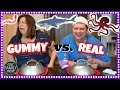 GUMMY FOOD vs. REAL FOOD CHALLENGE || WORMS, SHARK, OCTOPUS!!