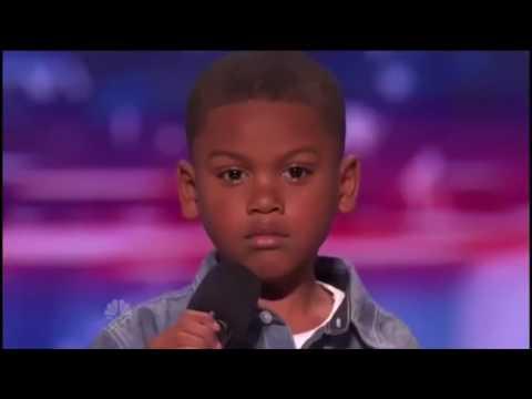 7 Year old Raps TAY-K x THE RACE on America's got talent ( shocks judges)