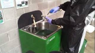 E100M Waterborne Spray Gun Cleaner – Operation