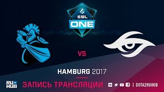 NewBee vs Secret, ESL One Hamburg, game 1 [GodHunt, Dead_Angel]