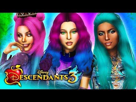 DESCENDANTS 3 Sims 4 (Ep 1) 👑 WHO WILL BE THE QUEEN? 👑 Disney's Descendants