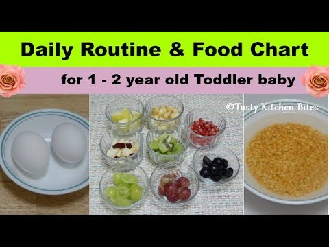 Daily Routine & Food Chart For 1 - 2 Year Old Toddler Baby L Complete Diet Plan & Baby Food Recipes