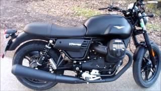 7. MOTO GUZZI V7 III Stone,  start, walkaround and sound.