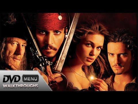 Pirates of the Caribbean The Curse of the Black Pearl (2003) DvD Menu Walkthrough