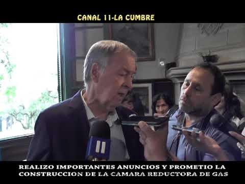 IMPORTANTES DECLARACIONES DE SCHIARETTI: GOBERNADOR EN LOS COCOS ANUNCIO EL INICIO DE LA OBRA DE GAS NATURAL