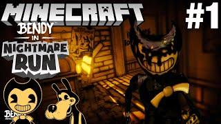 Bendy in Nightmare Run in Minecraft Part 1 - Map Showcase