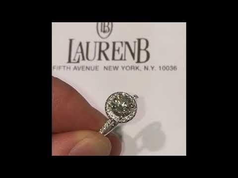 1 ct Round Diamond Halo Engagement Ring