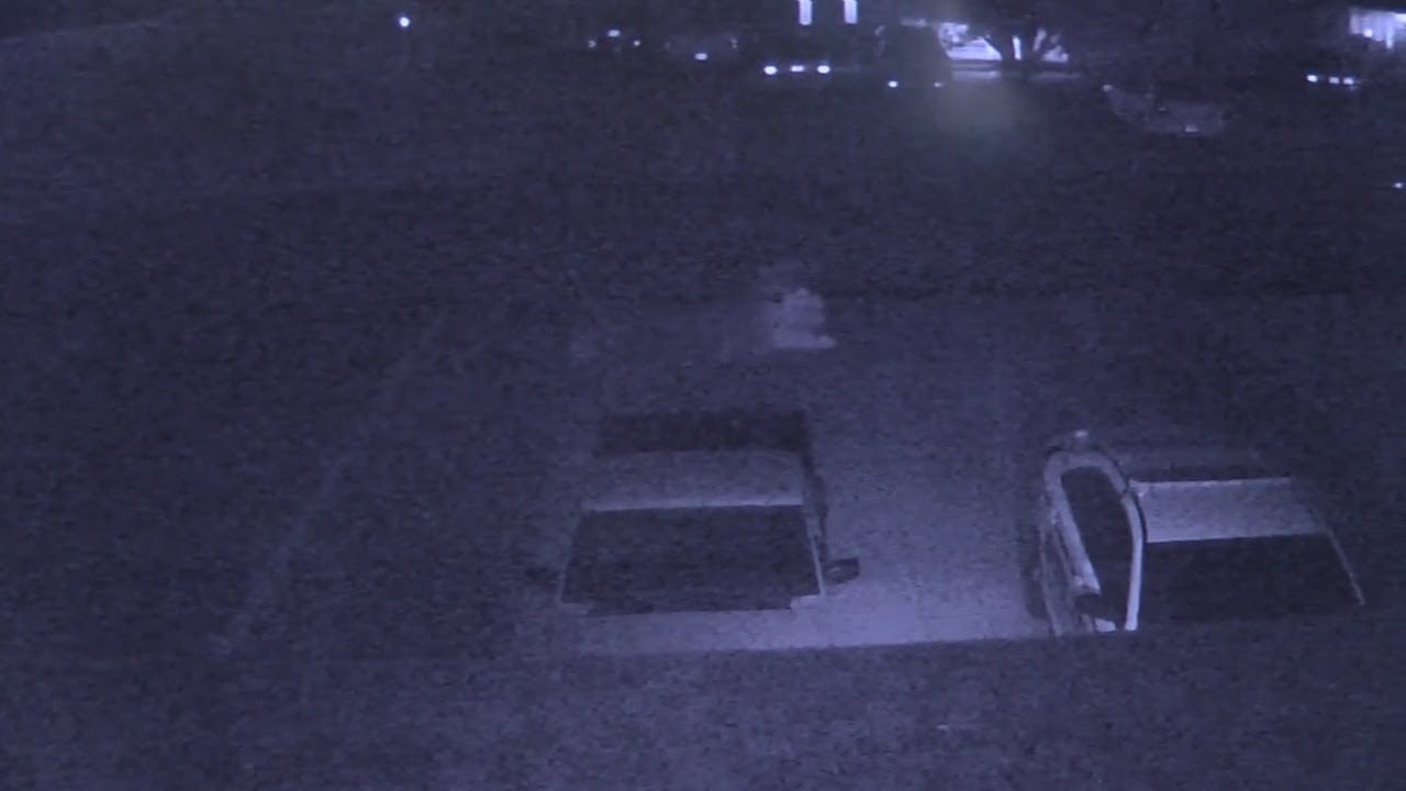 Creepy image caught gliding across surveillance camera