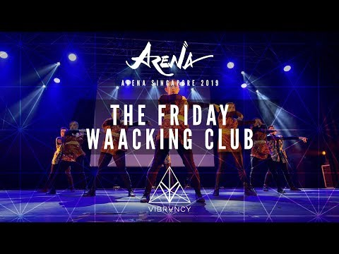 The Friday Waacking Club | Arena Singapore 2019 [@VIBRVNCY Front Row 4K] - Thời lượng: 4 phút, 35 giây.