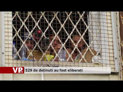 529 de deținuți au fost eliberați