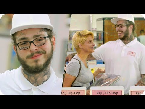 Post Malone Pranks People with Undercover Record Store Surprise