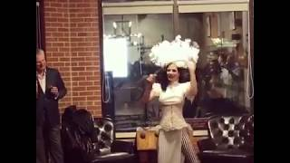 Clip: sword swallowing @ Town Cutler Chicago grand opening celebration