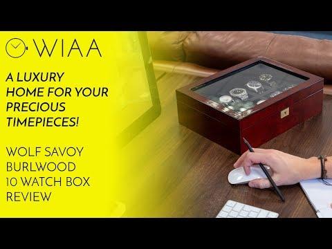 WOLF 1834 Savoy Burlwood 10 Watch Box Review