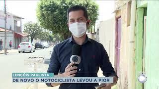 Motociclista fica ferido durante acidente em Lençóis Paulista