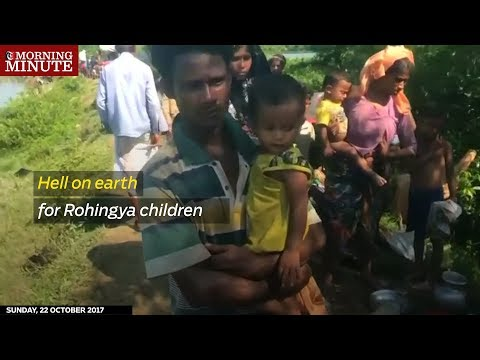 Nearly 340,000 Rohingya Muslim children are living in squalid camps without enough food or water.