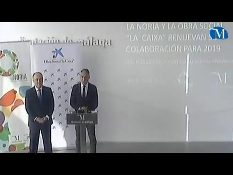 Firma del convenio de colaboración entre La Noria y La Caixa