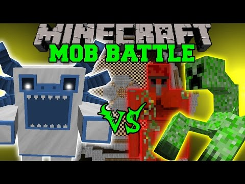 yeti - Mutant Yeti Vs Quartz Golem, Mutant Creeper, & Mutant Obsidian Golem : Who will win the mob battle?! Don't forget to subscribe for more battles and epic Mine...